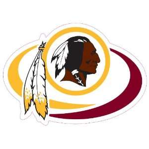 Washington Redskins Team Auto Window Decal (12 x 10  inch