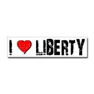 Love Liberty   Window Bumper Sticker