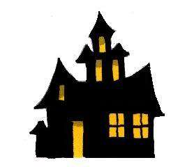 Halloween Stencil Haunted House Spooky for Crafts 5 in