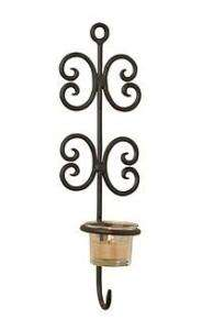 LUCA BELLA MULTI   CHAIN WROUGHT IRON WALL SCONCE NEW