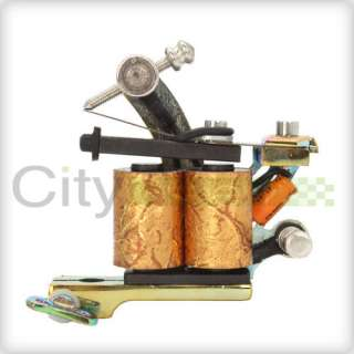 New Cast 10 Wrap Coils 2 Tattoo Machine Liner Shader Gun Colorful