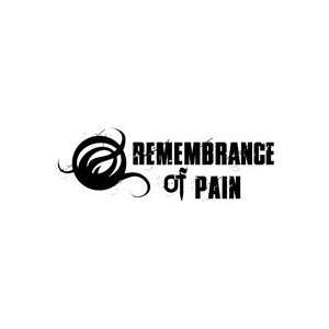 REMEMBRANCE OF PAIN BAND WHITE LOGO VINYL DECAL STICKER