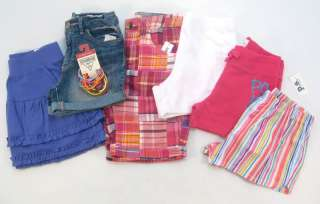 GIRLS SIZE 8 JUSTICE GAP NEW NWT LOT CLOTHES SHORT SHIRT SKIRT SPRING