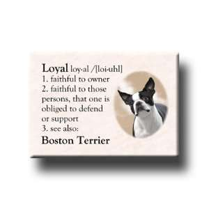 Boston Terrier Dictionary Loyal Fridge Magnet