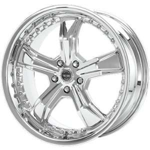 American Racing Razor 20x9 Chrome Wheel / Rim 5x4.5 with a 24mm Offset