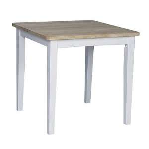 Square Dining Table in White and Natural Furniture & Decor