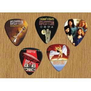 Led Zeppelin Guitar Picks Plectrums Medium Gauge 5x Set #1