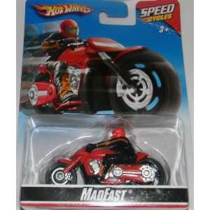 hot wheels speed cycles madfast apple red Toys & Games