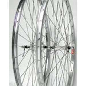 27x1 1/4, 219, Rear, QR, 5 6 speed, Silver Alloy Wheel