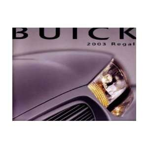 2003 BUICK REGAL Sales Brochure Literature Book Piece