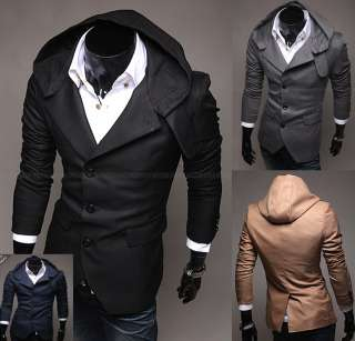 Mens Casual & Dresses Slim Fit Design Hoodie Blazer Jackets (US Size