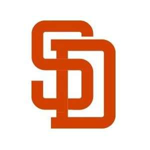 San Diego Padres Auto Car Wall Decal Sticker Orange
