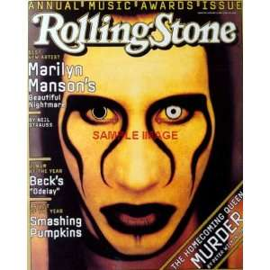 Marilyn Manson WICKED MURDER Rolling Stone cover print