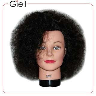 18 Cosmetology Mannequin Head Erica Virgin Curly Hair