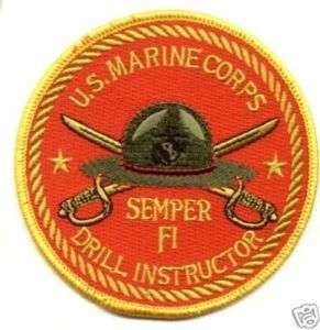 US Marine Corps Semper Fi Drill Instructor 4 Patch