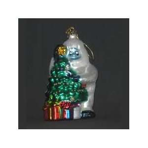 Bumble and Christmas Tree Glass Ornament