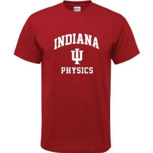 Indiana Hoosiers Cardinal Red Youth Physics Arch T Shirt