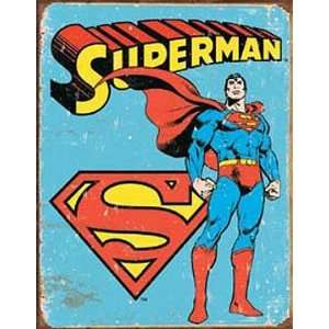 Superman Tin Metal Sign  Retro