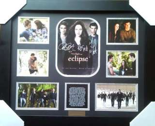 TWILIGHT SAGA ECLIPSE SIGNED FRAMED LIMITED EDITION NEW