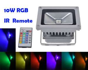10W RGB Flash LED Flood Light Wall Pack Washer Lamp New