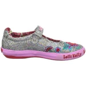 Lelli Kelly Pretty Baby Pewter silver shoes Mary Jane