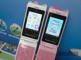 NEW Hello Kitty cell phone Unlocked Dual Band Touch Screen Flip Mobile