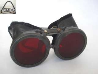 WWII ORIGINAL GERMAN U BOAT GOGGLES w/RED SCREENS
