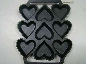 Cast Iron Heart Shaped Cake Pan 9 x 7.5 adorable (C1312)