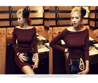 FQ BOAT NECK LONG SLEEVE DRESS RY00009