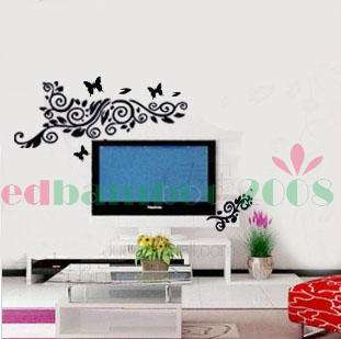 various colors)Television Decorative Decor Mural Art Wall Sticker