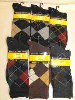 Pair Mens 10 13 ARGYLE Executive Dress Socks Cotton *****RETAIL $12