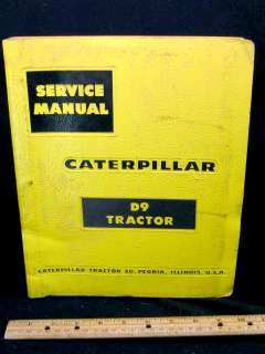 1959 CAT Caterpillar D9 Tractor Service Manual   ORIG
