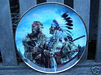 FRANKLIN MINT SIOUX CHIEF INDIAN FRIENDS LIMITED PLATE