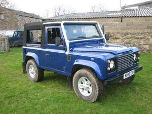 Land Rover Defender 90 soft top, SVX style full cage,mohair hood, TD5
