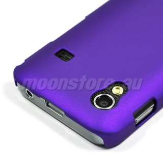 HARD RUBBER CASE COVER SAMSUNG S5830 Galaxy Ace PURPLE