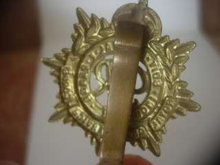 GEORGE V1 WW2 ROYAL ARMY SERVICES CORPS BRASS CAP BADGE