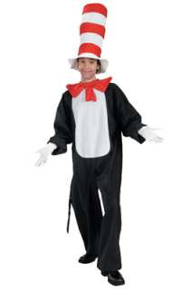 Dr Seuss The Cat in the Hat Adult Costume for Halloween   Pure