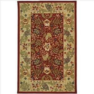Chelsea   HK140C Area Rug   4 Round   Red, Ivory