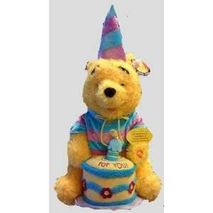Winnie the Pooh, Happy Birthday Large 18 Plush Doll Toy Toys & Games