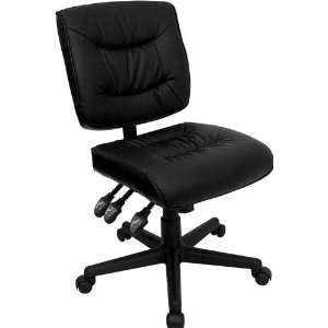 Flash Furniture Mid Back Black Leather Task Chair