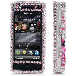 BLACK BUTTERFLY 3D CRYSTAL BLING CASE FOR NOKIA X6 Electronics