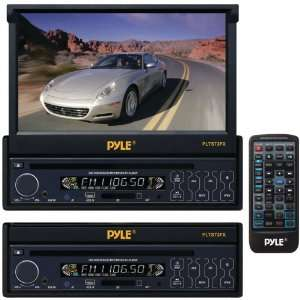 IN Single DIN In Dash Motorized Touch Screen TFT/LCD Monitor w/ DVD