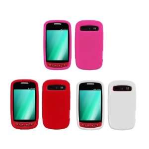 Bundle Combo   (White, Red, Hot Pink) Silicone Soft Skin Case Covers