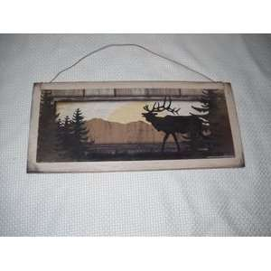 Lodge Sign Animal Decor Nature Forest Cabin Camper Art
