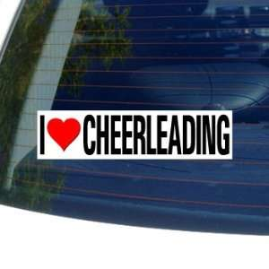 I Love Heart CHEERLEADING   Window Bumper Sticker