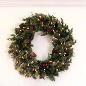 Edina Fir Artificial Christmas Wreath   Clear Lights