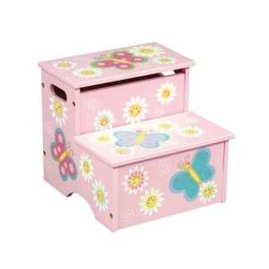 Butterfly Two Step Stool with Storage