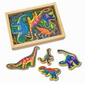 Wooden Dinosaur Magnets Toys & Games