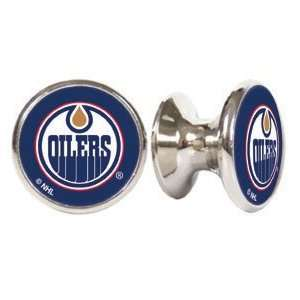 Oilers NHL Stainless Steel Cabinet Knobs / Drawer Pulls (2 pack