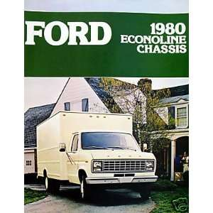 1980 Ford Econoline Chassis vehicle brochure Everything